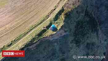 Family found camping on 'dangerous' cliff edge in North Yorkshire