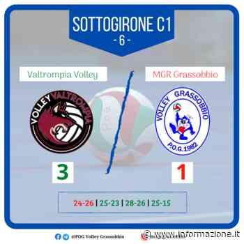 Serie B Volley: l'MGR Grassobbio cade 3-1 a Valtrompia - informazione.it