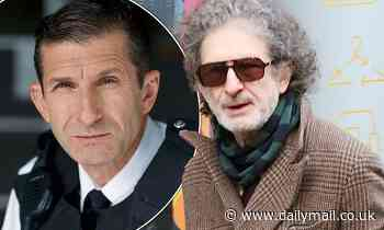 The Bill star Jeff Stewart looks worlds apart from his character PC Reg Hollis grabs lunch in London