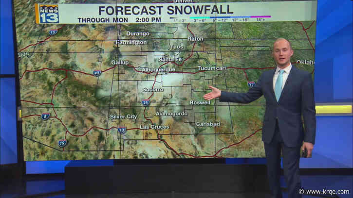 More wind and snow chances Sunday