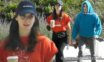 Alison Brie and Dave Franco cut very casual figures as they step out for a shared coffee run in LA