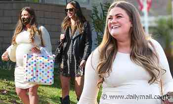 Brittany Cartwright and Kristen Doute are seen arriving at Scheana Shay's baby shower in Los Angeles