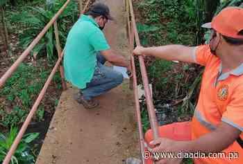 Reparan puentes, escaleras y aceras en mal estado en Escobal - Día a día