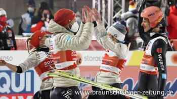 """Heim-WM in Oberstdorf: Mixed-Gold """"toppt so viel"""": Skisprung-Glanz nimmt Druck"""