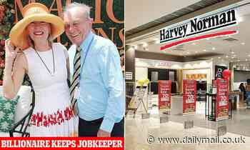 Harvey Norman's billionaire founder Gerry Harvey defends decision to keep JobKeeper wage subsidies