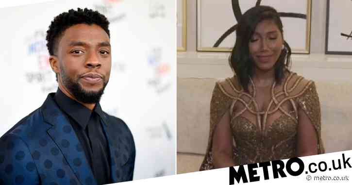 Chadwick Boseman's widow praised for her 'strength and grace' as she tearfully accepts Golden Globes win