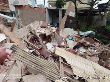 Casa de dois andares desaba e mulher fica ferida em Ibatiba - Folha Vitória