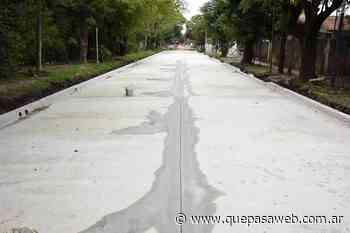 Realizan trabajos de pavimento e hidráulica en Los Polvorines - Que Pasa Web