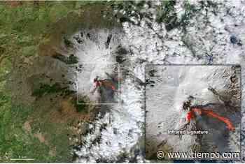 Una columna resplandeciente sobre el monte Etna - Tiempo.com
