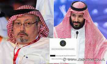 Intelligence officials quietly removed names of three men 'erroneously' included in Khashoggi report
