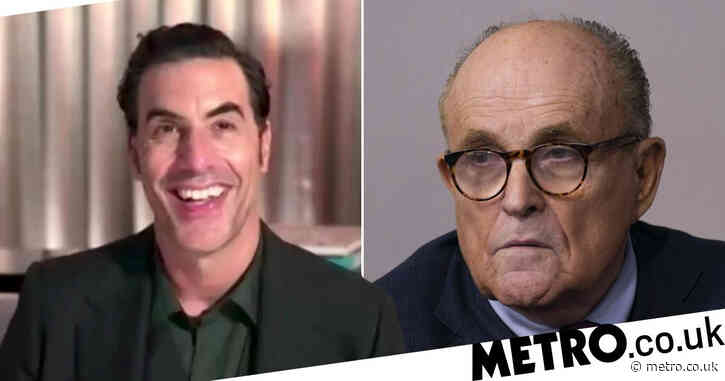 Golden Globes 2021: Sacha Baron Cohen rips into 'comedy genius' Rudy Giuliani and Donald Trump in hilarious speeches