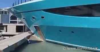 £65m superyacht smashes into luxury club dock after 'computer malfunction'