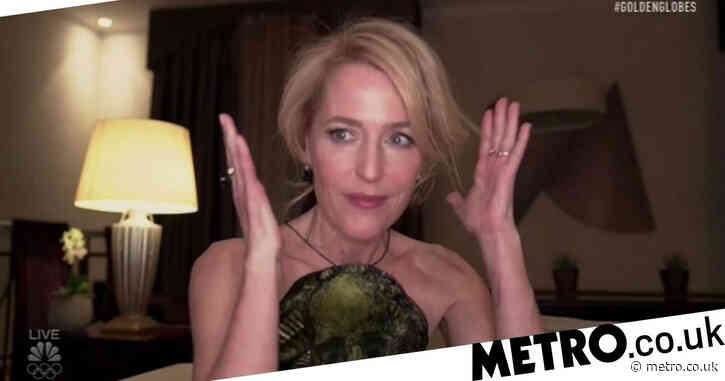 Golden Globes viewers have a lot of feelings about Gillian Anderson's real accent