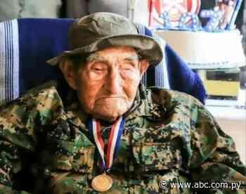 Falleció último excombatiente de San Pedro del Paraná a los 107 años - Nacionales - ABC Color
