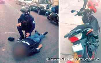 Muere motociclista que sufrió una fuerte caída en el Barrio del Encino - El Sol del Centro