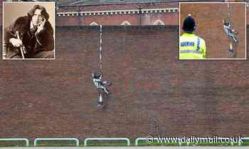 Banksy-style graffiti of prisoner appears on wall of HMP Reading
