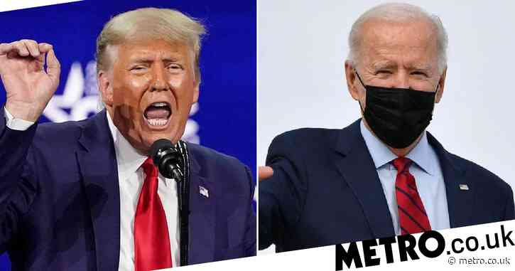 Donald Trump attacks Joe Biden's support for transgender athletes during 90 minute comeback speech