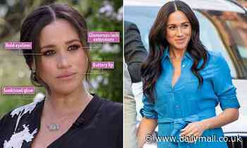 Meghan Markle swapped her usual low-key look for 'red carpet' makeup for Oprah Winfrey interview