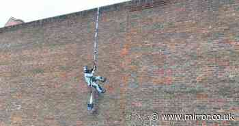 Suspected 'Banksy' spotted on side of prison shows 'Oscar Wilde breaking out'