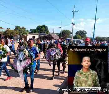 Sepultan en Barranco de Loba a soldado muerto en emboscada en Cúcuta - El Universal - Colombia