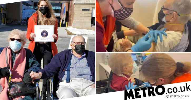 Elderly couple, 94, who found love during Covid get vaccinated ahead of their wedding