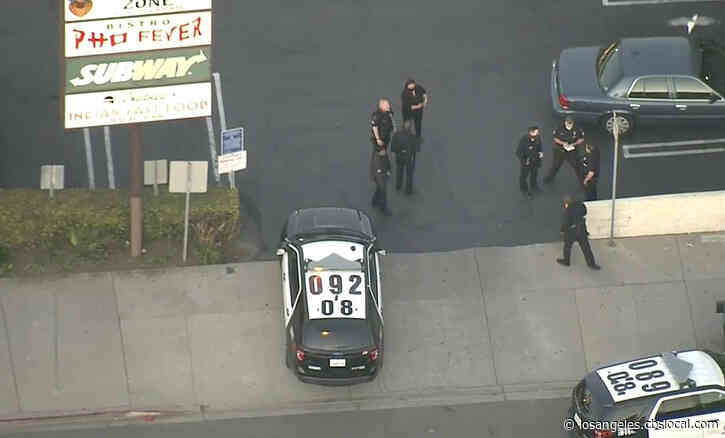 Driver Wanted After Hitting, Then Dropping Pedestrian From Car During LAPD Car Chase