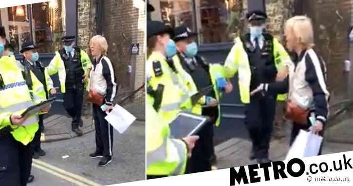 Woman 'cuffed after queuing for coffee two miles from her home'