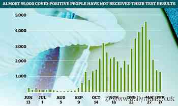 Up to 55,000 Covid-positive people never got their test results, official figures show