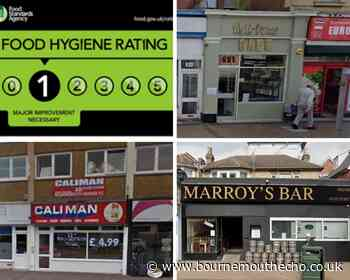 Listed: Bournemouth eateries with the lowest hygiene ratings