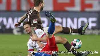 2. Liga Montagsspiel: Pleite beim FC St. Pauli: HSV nur noch Tabellenvierter