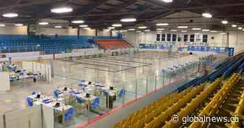 Coronavirus: Pointe-Claire's Bob Birnie Arena transformed into mass vaccination site - Global News
