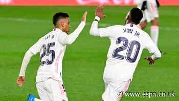 Vinicius strikes late to salvage Real Madrid draw