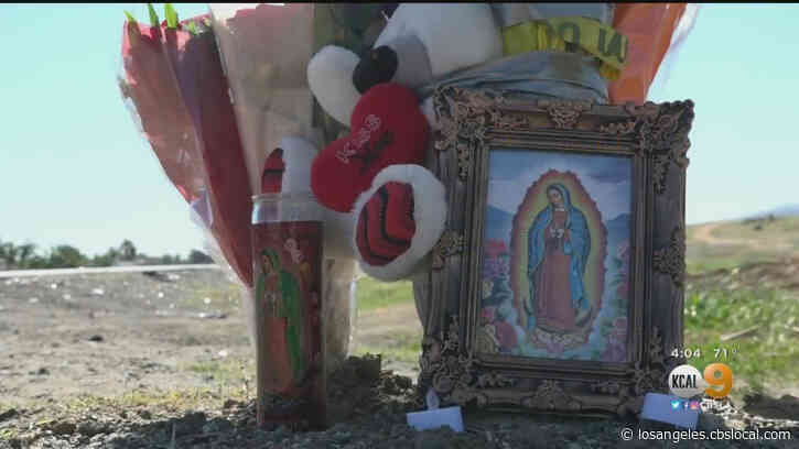 Memorial Placed At Jurupa Valley Crash Site Where Amazon Driver Struck Patrol Vehicle Killing 2