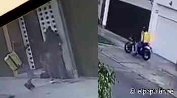 Falso repartidor de delivery fue captado asaltando a una mujer en San Borja - ElPopular.pe