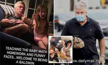 Alec Baldwin teaches Hilaria SIXTH child math after goes on grocery run welcome their new addition
