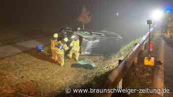 Auto überschlägt sich bei Querenhorst - B244 gesperrt