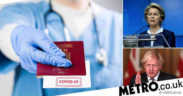 EU's Covid vaccine passport scheme 'set to include the UK'