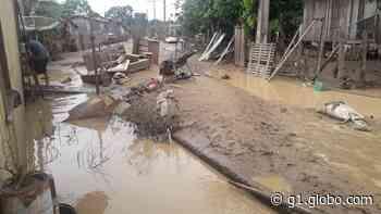 Em Sena Madureira, Rio Iaco continua em vazante e prefeitura já retirou mais de 8 toneladas de entulho em 4 dias - G1