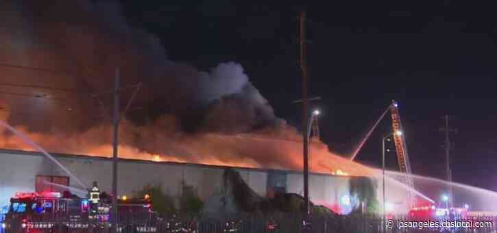 Large Commercial Blaze Erupts In South LA