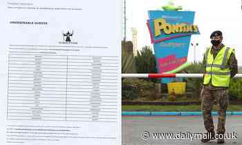 Pontins banned customers using a secret blacklist titled 'undesirable guests'