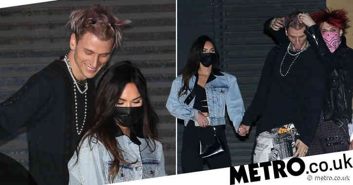 Machine Gun Kelly leaves necklace of girlfriend Megan Fox's blood at home as they step out for romantic date night