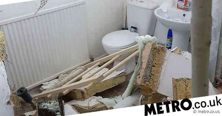 Sleeping couple trapped after flat collapses in explosion