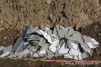 Illegal Asbest in Olbernhau entsorgt - Polizei bittet um Hinweise - Freie Presse