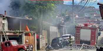 Incêndio atinge casa na Barra Velha, em Ilhabela - Jornal Costa Norte