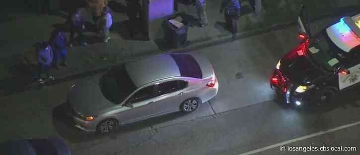One Wounded After Gunman Opens Fire On Car Along 110 Freeway In South LA