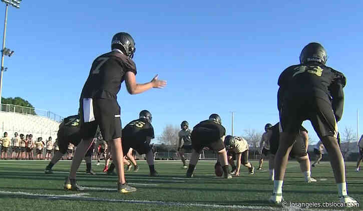 Citrus Valley High School Blackhawks Prepare For First Football Game Of The Year In Redlands