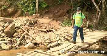 Um ano após enchente, pontes de Vargem Alta ainda aguardam reconstrução - A Gazeta ES