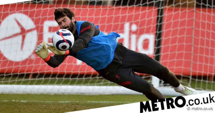 Alisson, Diogo Jota and Fabinho train with Liverpool ahead of Chelsea clash