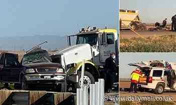 13 'undocumented migrants' dead and several injured after SUV 'carrying 25' crashes into semi-truck
