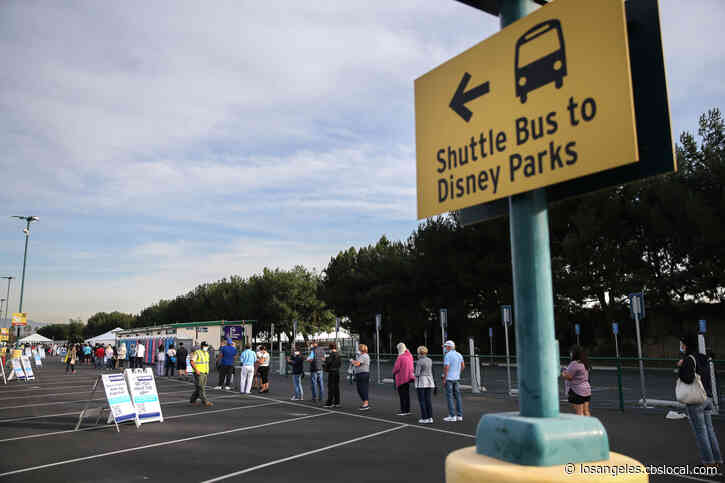 Disneyland's COVID Vaccine Site To Temporarily Close To Install Drive-Thru Access